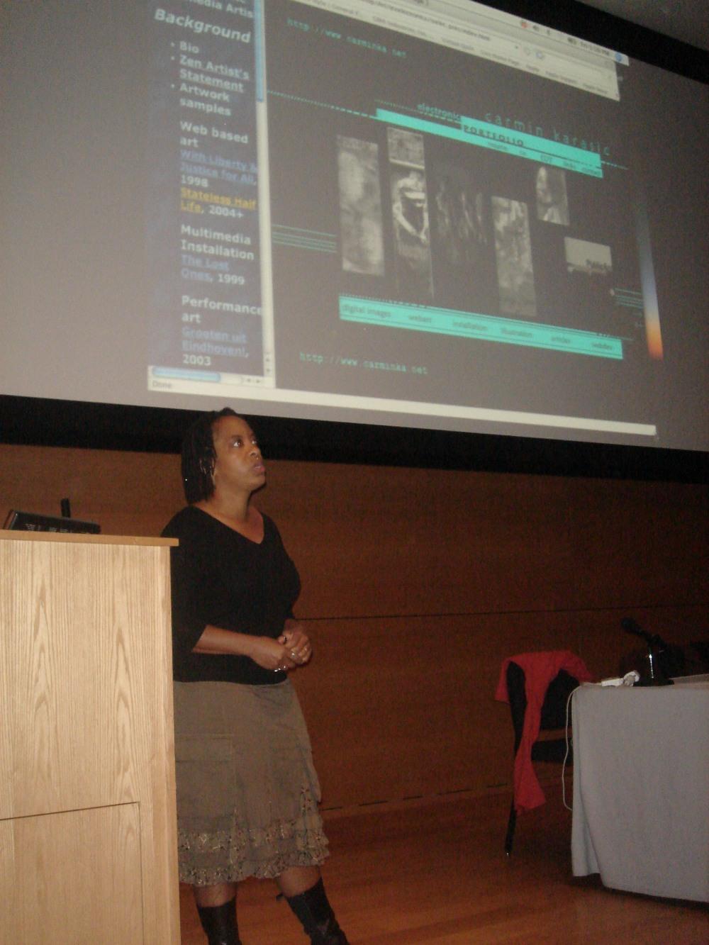 Carmin Karasic Presentation in Society Session